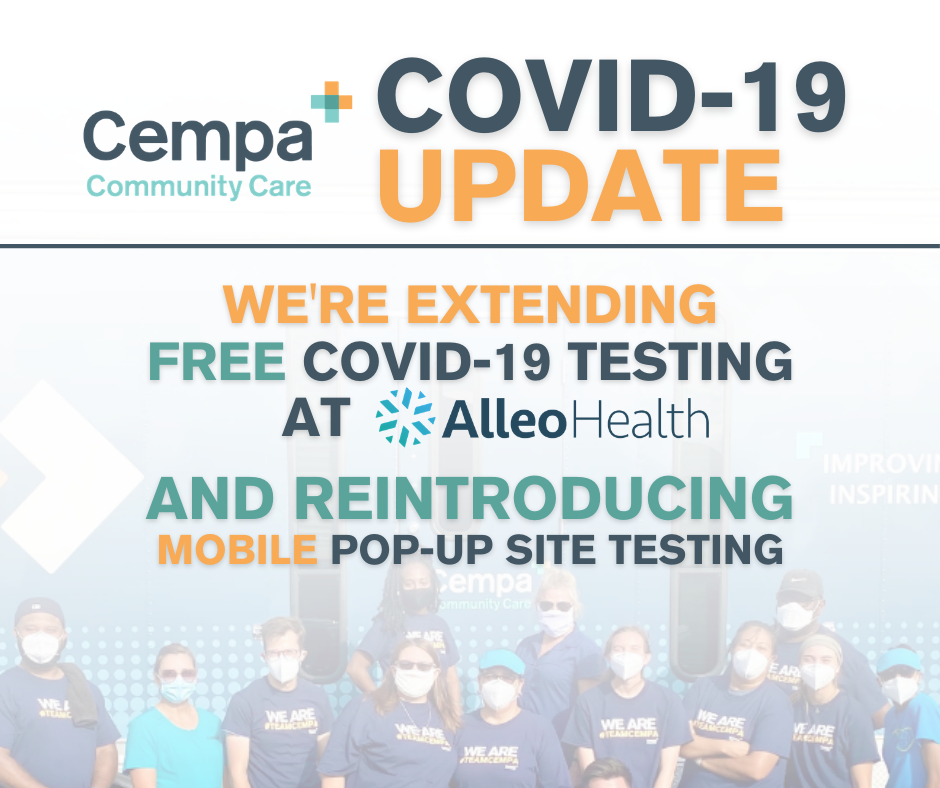 Cempa Community Care Extends Free COVID-19 Testing At One Permanent Location, Reintroduces Mobile Popup Site Testing